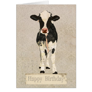 Onyx & Ivory Cow Birthday  Card
