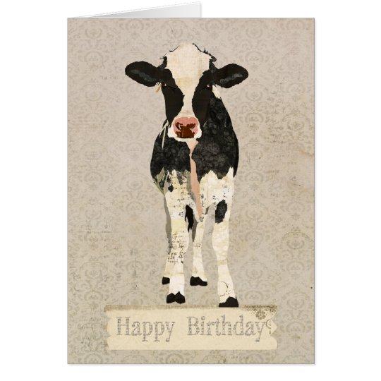Onyx & Ivory Cow Birthday  Card