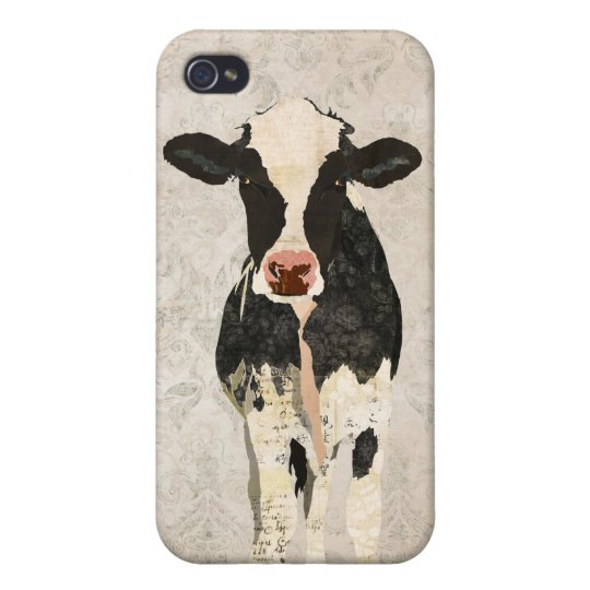 Onyx & Pearl Cow Damask i iPhone 4
