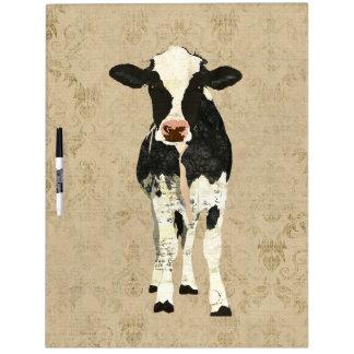 Onyx & Pearl Cow Dry Erase Board