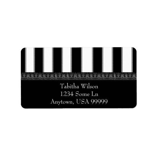Onyx Stripe Address Label