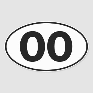 OO Oval Identity Sign Oval Sticker