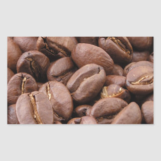 Oodles of Coffee Beans Rectangular Sticker