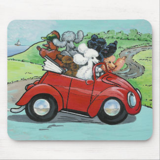Oodles of Poodles Vintage Convertible Mousepad