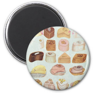 ooh la la bakery  pastry chocolate french cafe 6 cm round magnet