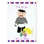 Ooh La La It's A French Themed Party Night 11 Cm X 16 Cm Invitation Card