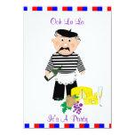 Ooh La La It's A French Themed Party Night 11 Cm X 16 Cm Invitation Card