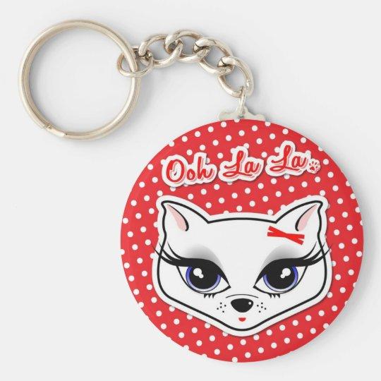 Ooh La La Kitty Basic Round Button Key Ring