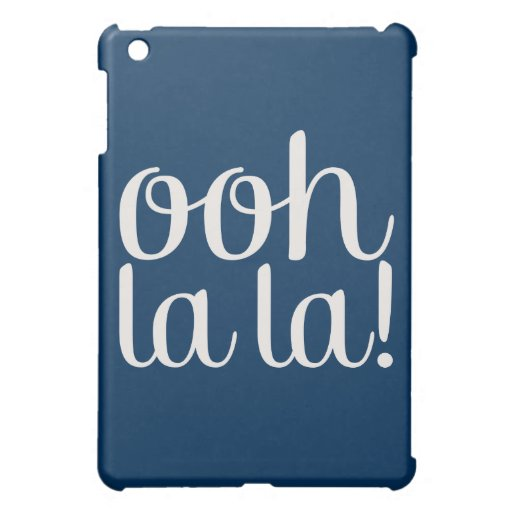 Ooh La La Navy Blue iPad Mini Case