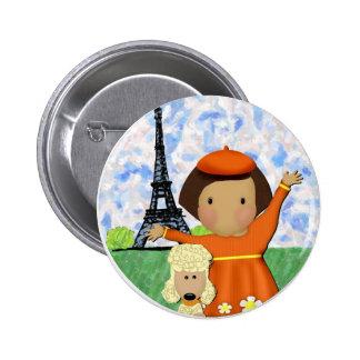 Ooh La La Paris 6 Cm Round Badge