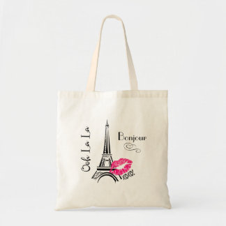 Ooh La La Paris Eiffel Tower Bonjour Tote Bag
