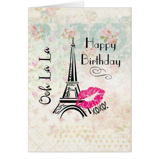 Ooh La La Paris Eiffel Tower Happy Birthday