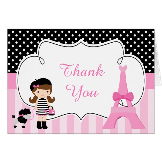 Ooh la la Paris Eiffel Tower Thank You Card