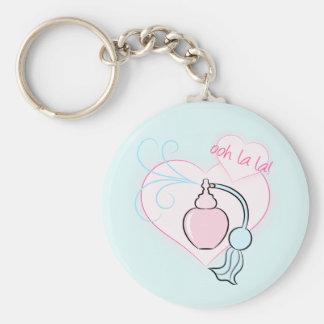Ooh La La! Perfume Basic Round Button Key Ring