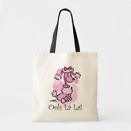 Ooh La La Poodle Canvas Bags