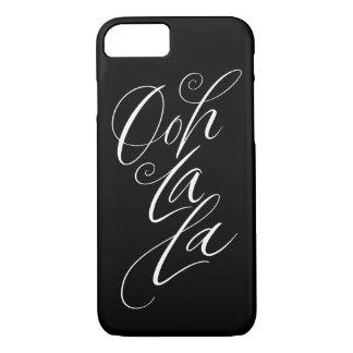 Ooh La La - Sensuous Feminine Lettering on Black iPhone 8/7 Case
