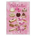 Oohlala temptation Vintage Chocolate Pink Paris Greeting Card
