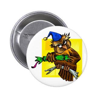 Ookie Owl 6 Cm Round Badge
