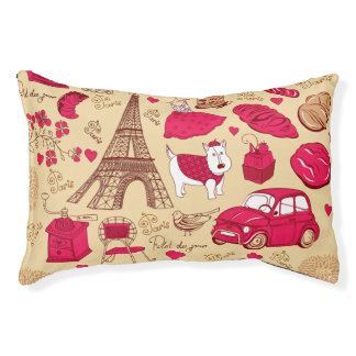 OoLaLa Parisian themed Indoor Dog Bed - Small