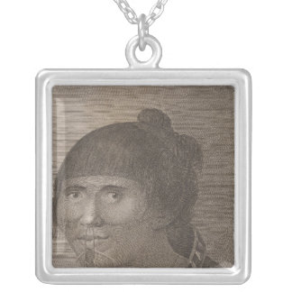 Oonalashka woman, Alaska Silver Plated Necklace