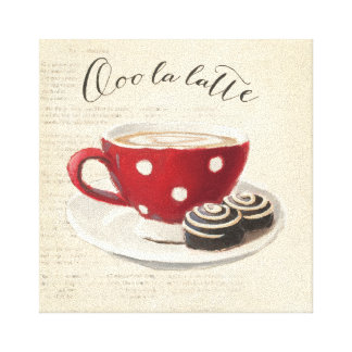 Ooo La Latte Gallery Wrapped Canvas