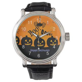 Oooh! Happy Halloween in Orange and Black Wristwatches
