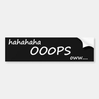 OOOPS Bumper Sticker