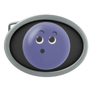 Ooow! So Blue Smiley Face Oval Belt Buckles