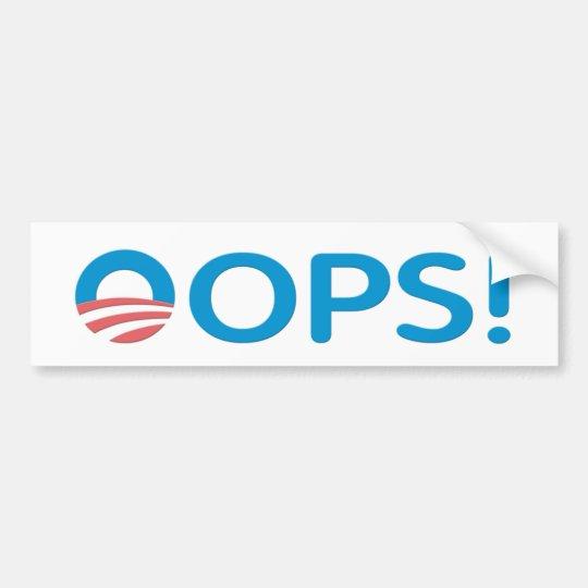 OOPS! Bumper Sticker