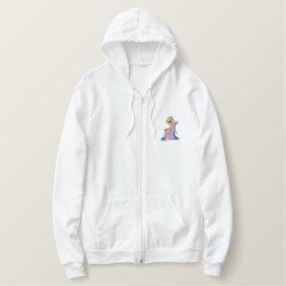 Oops Girl Bear Embroidered Hoodie