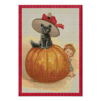 Oops, He found Me! Cross Stitch Poster