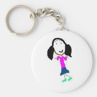 Oops Basic Round Button Key Ring
