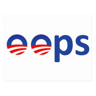 Oops! Obama Postcard
