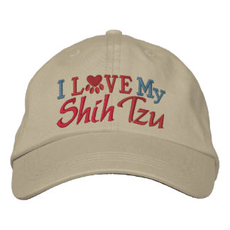 Oops - Revised Color - I Love My Dog Embroidered Baseball Caps