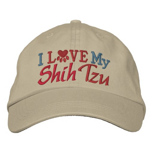 Oops - Revised Color - I Love My Dog Embroidered Hats