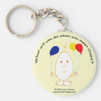 Oops with Balloons Keychain