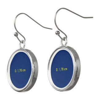 Oorhangers uni Blauw Earrings