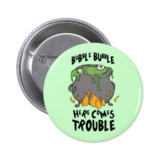 Oozy Cauldron Here Comes Trouble Button