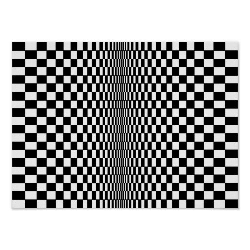 Op art algorithm poster