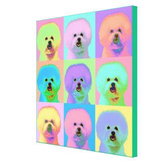 Op Art - Bichon Frise - Cody Canvas Print