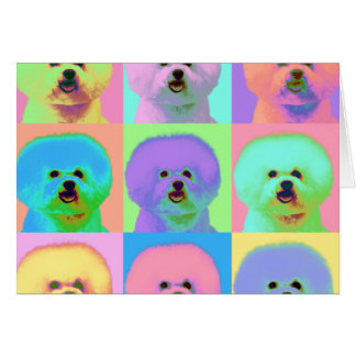 Op Art - Bichon Frise - Cody Card