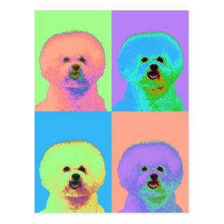 Op Art - Bichon Frise - Cody Postcard