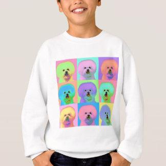Op Art - Bichon Frise - Cody Sweatshirt
