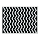Op Art Black and White Waves Two Poster