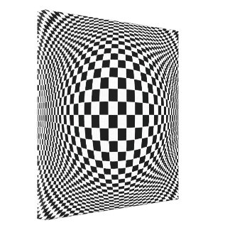 Op Art Stretched Canvas Print
