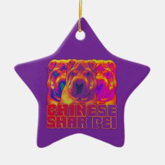 Op Art - Chinese Shar Pei Ornaments