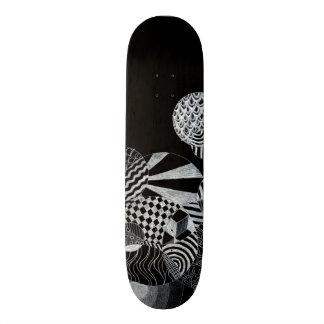 Op Art Doodle Reverse Skate Board