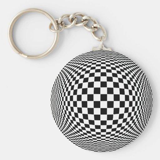 Op Art Keychain