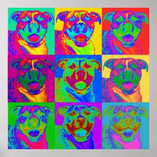 Op Art Pitbull Poster