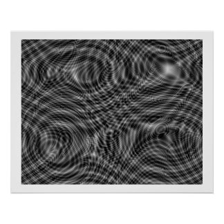 Op Art Random Moire Waves 01 Seamless Poster